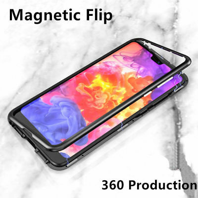 Slim Magnetic Metal Aluminum Bumper Frame Shockproof Cover Case For Huawei Phone