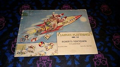 VINTAGE 1952 Santa's Playthings; Roberts Toytown Bronxville NY Christmas Catalog