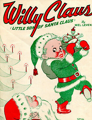 Willy Claus, Little Son of Santa Claus Sheet Music, 1952