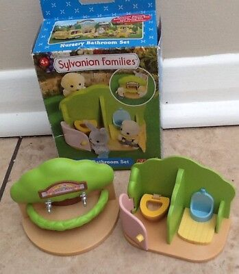 Sylvanian Families Nursery Bathroom Set Boxed And Complete Fab Condition