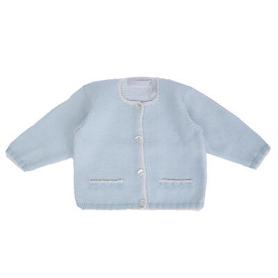 THEO Cardigan Size 12M Long Sleeve Button Front Crew Neck