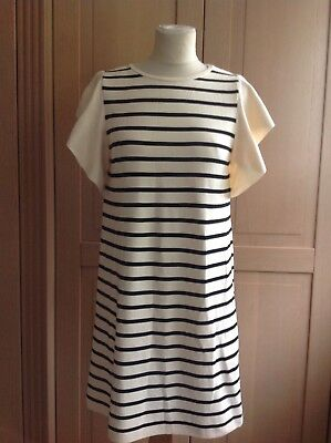 Zara Knit Cream/black Stripe Fine Knit Dress Uk Size S (8) Bnwt Rrp €39.95