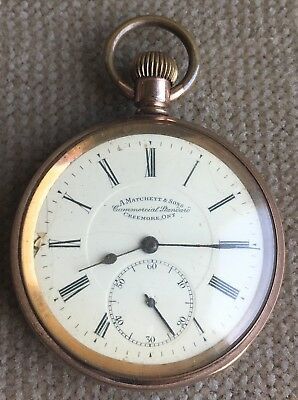 A.MATCHETT & SONS  Taschenuhr  50 mm USA ca. 1925 Defekt
