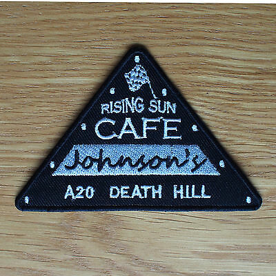 Motorcycle Biker Rockers Cafe Racer Ace Cloth Patch Badge CAFE JOHNSONS A20