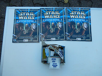 Star Wars Episode 1 - 3 Sammelalben (2x komplett 1x leer) und Sticker