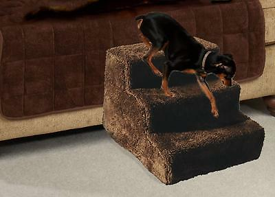 Dog Pet Stairs Steps Indoor Ramp Portable Folding Animal Cat Ladder Fleece Cover