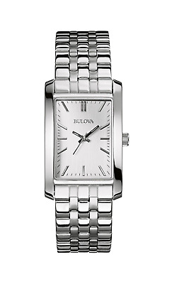 Bulova Women's 96L201 Corporate Collection Quartz White Dial Bracelet 37mm Watch