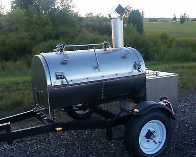 bbq smoker grill trailer NSF Certified commercial competition