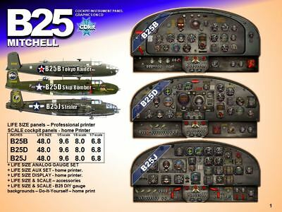 B25 MITCHELL COCKPIT instrument panel CDkit