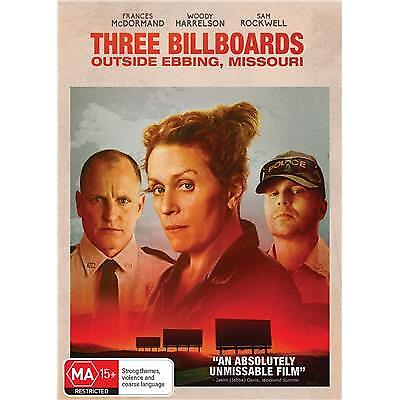 Three Billboards Dvd, New & Sealed, 2018 Release, Region 4, Free Post