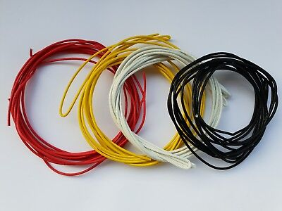 12 meter .22 awg guitar cloth wire yellow white red and black brand new