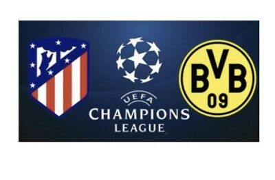 2 Top Tickets Dortmund BVB vs. Atletico Madrid Tribüne Nordwest Champions League