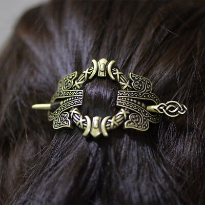 viking hairpin hair clip celtic knot crown stick slide accessories + gift box