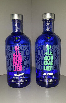 Absolut Vodka DROP edition UK exclusive RAINBOW Limited edition