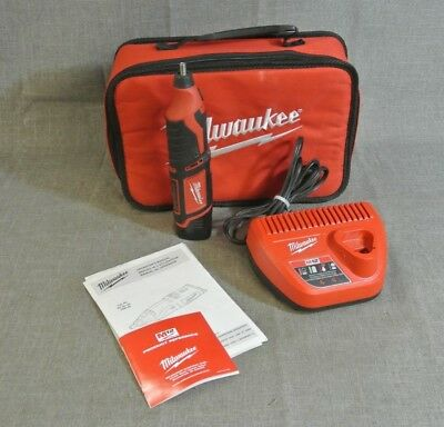 Milwaukee 2460-20 12V M12 Cordless Rotary Tool W/charger In Red Bag (97238-1 H)