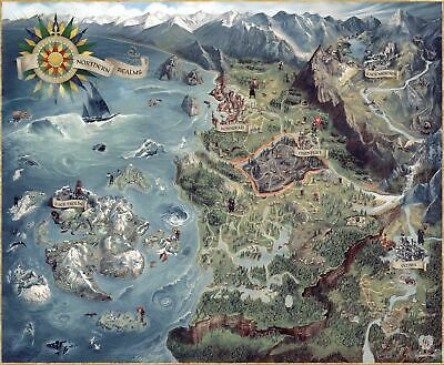 The Witcher III 3: Wild Hunt - Northern Realms Map/Poster