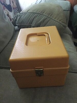 VTG Gold Plastic Wil-hold Wilson Sewing Pattern Storage Box Divider Made In USA