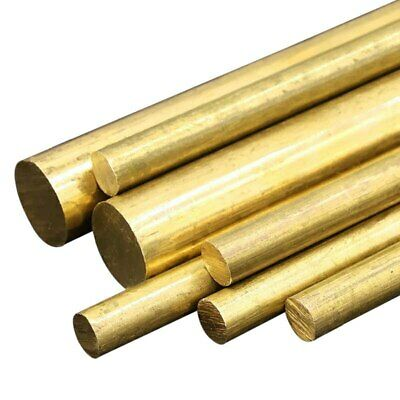Brass Round Bar Rod CZ121 - 4mm 5mm 6mm 8mm 10mm 12mm Metric *
