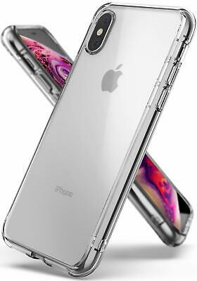 Ringke Fusion Designed for iPhone Xs Case Clear Rear PC Anti-Yellowing Cover