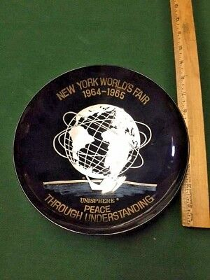 1964 - 1965 New York World's Fair Unisphere Plate Bowl NYWF Peace Understanding