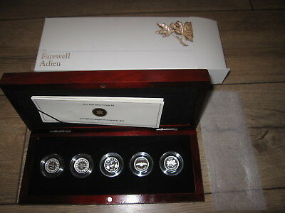 2012 Canada Farewell Penny Fine Silver 5 Coin Proof Set.