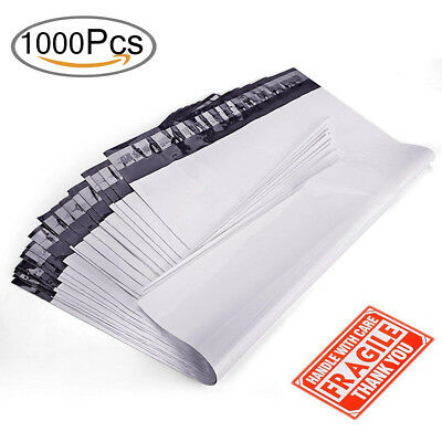 9x12 Poly Mailers 1000 Shipping Envelopes Plastic Mailing Bag Self Sealing White