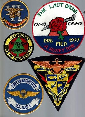 Group / lot of patches. 70s &up, Airborne, Special Forces, Seal Marines, LOT  #2