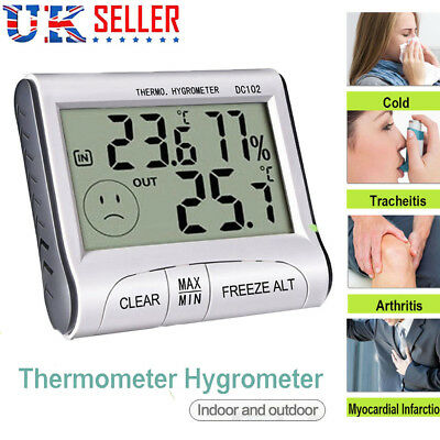 Digital Mini Thermometer Humidity Meter Room Temperature Indoor LCD Hygrometer