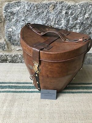A Vintage Leather Bucket Hatbox