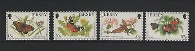 Jersey Butterflies 1991 Set Of Mint Stamps Free P&p