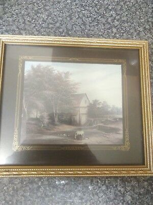 Original painting Vintage miniold Framed art deco wall art home decor collectors
