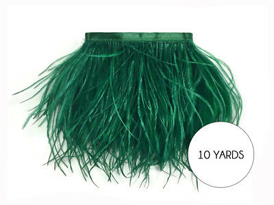 10 Yards - Hunter Green Ostrich Fringe Trim Wholesale Feather Prom Dress Costume