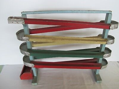 AAFA Antique Folk Primitive Hand Made Wooden Marble Run Childs Toy Rare!