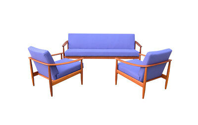 Teak set sofa / daybed chairs Goldfeder 50s 60s 70s sessel couch teakholz danish