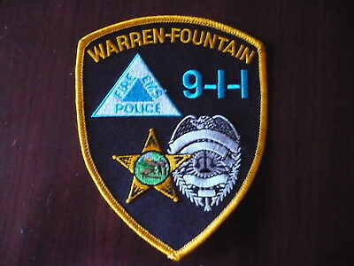 Warren-Fountain Fire EMS Police Patch   New