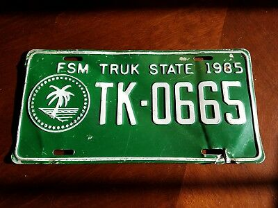 Truck State License Plate