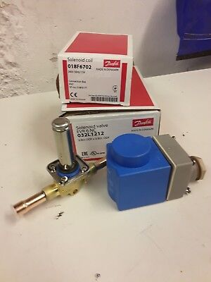 New danfoss 3/8 solenoid and 240v coil refrigeration