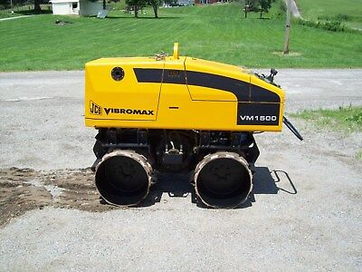 "Jcb Vibromax Vm1500 (""only 95 Hours"") Vibratory Remote Controlled Trench Roller"