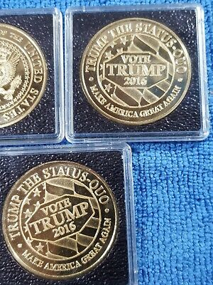 President Of The United States Gold Tone Coin In Brand New Capsule Maga