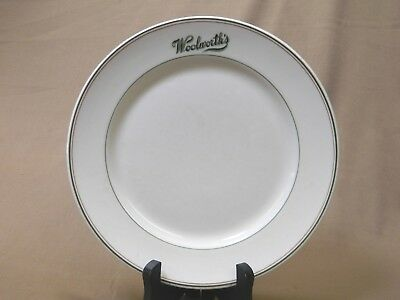 """Woolworth's Antique Lunch Counter Diner Restaurant Ware Shenango China Plate 9"""""""