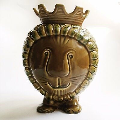 anthropologie Ceramic Lion Cookie Jar
