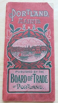 Portland Maine Visitor's Handbook 1905 Casco Bay Steamboat Fold Out Map Photos