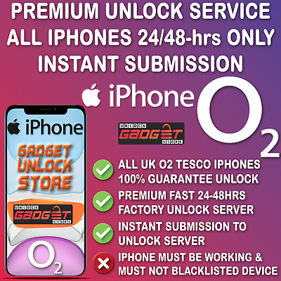 UNLOCK Code Service for iPhone X XS XS MAX XR 11 Pro 11 Pro Max O2 UK Tesco UK