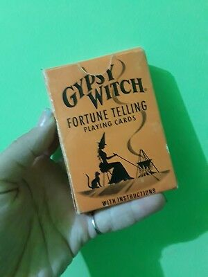 Rare Version #62 Gypsy Witch Fortune Telling Playing Cards Great Condition