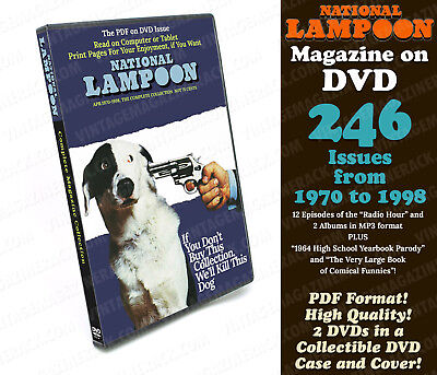 National Lampoon Magazine 246 Issues 1970-1998 in PDF format - DVD w Custom Case