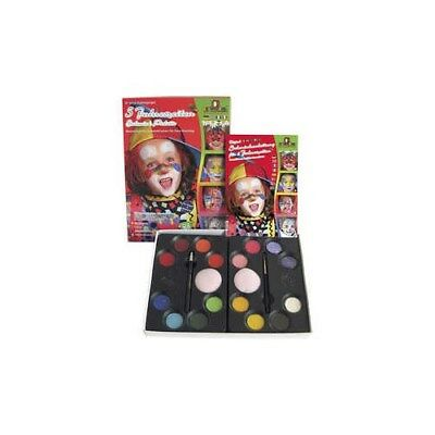 Water Makeup Set with step-by-step, asstd colours, 5 seasons, 1set [HOB-76132]