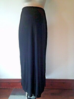 Mothercare Maternity Black Over Bump Jersey Maxi Skirt Size 14