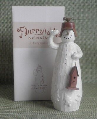 FLURRYVILLE FROSTY FRANK Of The FOREST Snowman Collection Christmas Figurine