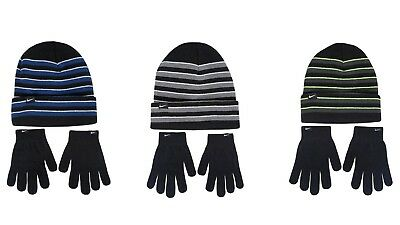 Nike NWT Youth Boys Beanie Hat Glove Combo Set One Size fits most 8-20