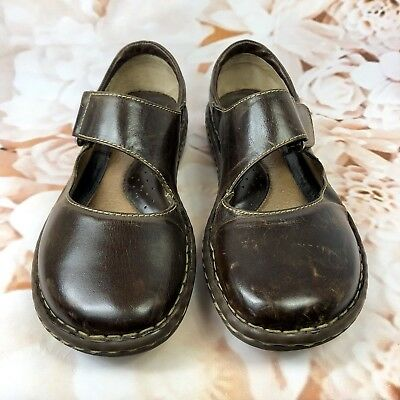38dbab8cc114 Born Womens Mary Jane Leather Brown Strap Leather Buckle Shoes Size 8.5  Dress